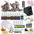 Complete Tattoo Kits 2 Relief Tattoo Machine Guns 10 Colors Inks Set Top  Power Supply Kit