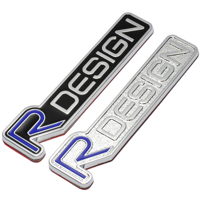 3d metal r design rdesign letter emblem badge car sticker car styling decal for volvo xc60