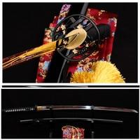 1060 HighCarbon Steel Full Tang Blade Japanese Samurai Battle Ready Sword Katana