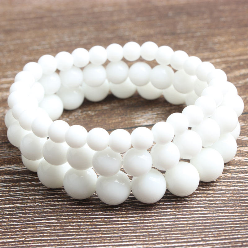 Ling Xiang Fashion natural Jewelry White Stones beads bracelet be fit for men and women Accessories and amulets