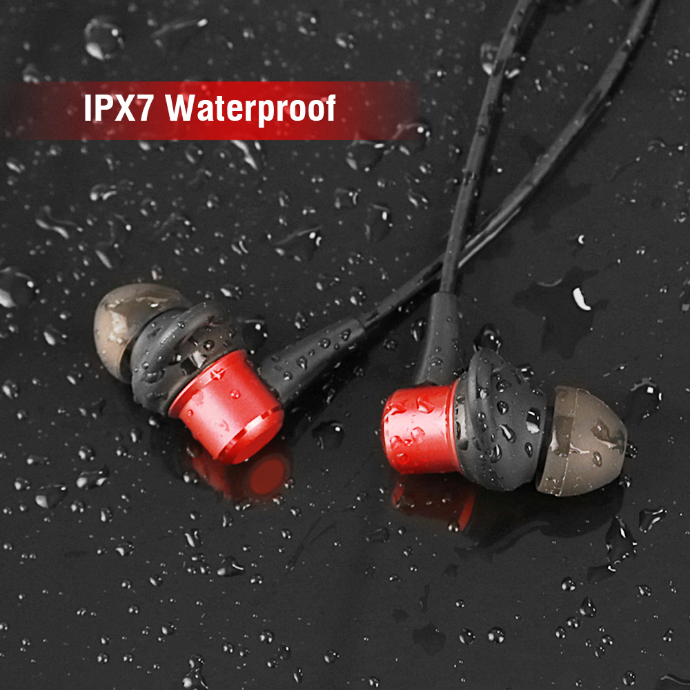 HENZIN Sports Bluetooth Earphone 4.1 Waterproof IPX7 Wireless Earbuds Hifi Stereo With Mic In-Ear Earphones For iPhone Sumsung coulax bluetooth headphones sports wireless headset ipx7 waterproof earbuds in ear earphones with mic sweatproof headphone cx36