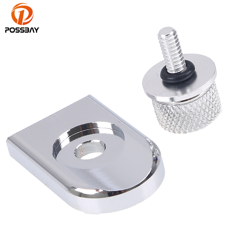 POSSBAY 6mm Motorcycle Thread Seat Bolt Tab Screw Mount Knob Cover For Harley Street Glide Ultra Dyna Sportster 883 Seat Bolts