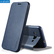 X-Level Book Leather Flip Cases For Samsung Galaxy J1 2016 J120F/J120A/J120H/J120M Ultra Thin Business Leather Funda Cover Case