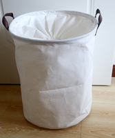 2016 Newest 38x42cm Fabric Laundry Basket With Clock Cloth PU Handles Easy Packing And Moving