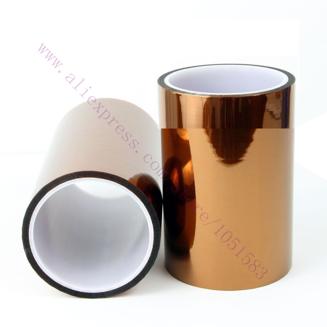 1 pcs 100mm X 33 m Fita kepton Alta Temperatura Calor Polyimide Resistente, 3D Impressora de Cama peças/Acessórios