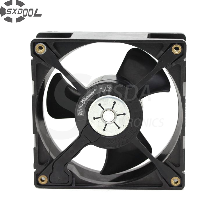 SXDOOL WR2A1 AC 115V 1W 12038 12cm 120mm 120*120*38mm metal motor cabinet cooling fan original sanyo 109r1212t1h142 12cm 120 120 38mm 12v 0 48a 3 wire cooling fan