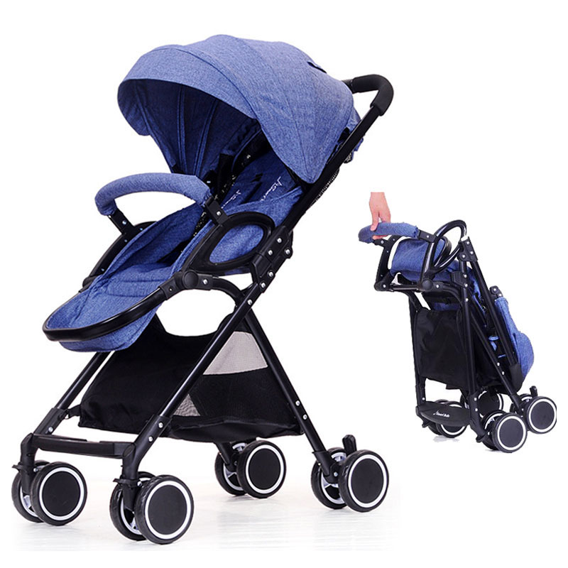 Portable Lightweight Baby Stroller Can Sit Lie Baby Carriage Trolley Folding Umbrella Car Travel Shock Absorber Infant PushchairPortable Lightweight Baby Stroller Can Sit Lie Baby Carriage Trolley Folding Umbrella Car Travel Shock Absorber Infant Pushchair
