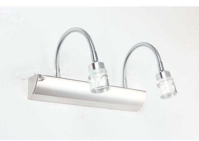 6w LED mirror light wall lamps stainless steel wall lamps 320mm bathroom washbasin wall lamp AC 85V~265V bj10