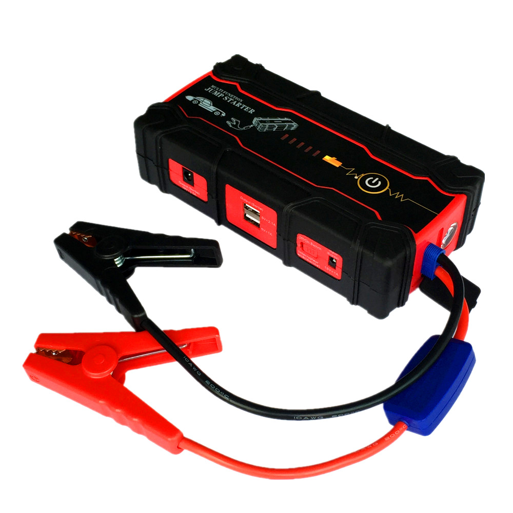 High Power Starting Device Super 12V Car Jump Starter Power Bank Portable Petrol Diese Car Battery Booster Charger Free Ship  2017 high capacity 15000mah car jump starter portable 12v car battery booster charger mobile 2usb power bank sos light free ship