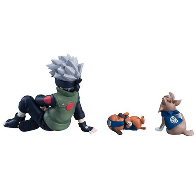 9pcsset Naruto Shippuden Figure Hatake Kakashi Eight Ren Dogs PVC Action Figures Collectible Model Toy Gift (4)
