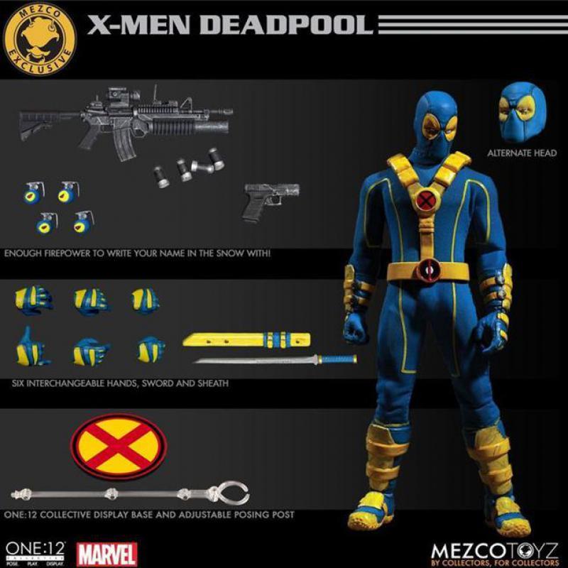 Marvel Super Hero Deadpool Blue Ver Figure X-men Doll Toy 6 16cm цена