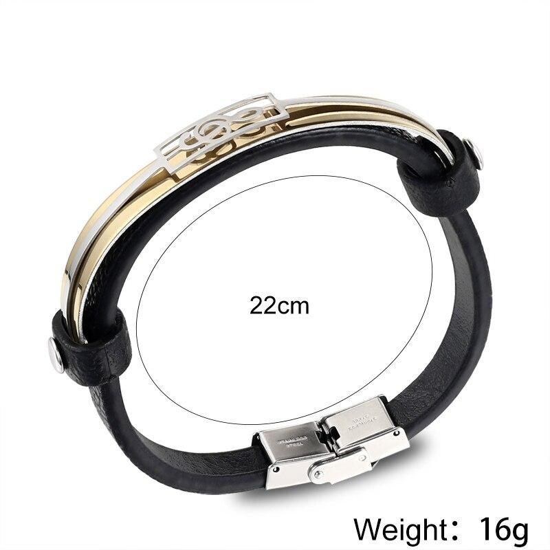 liujun Treble Clef Stainless Steel Musical Bracelet
