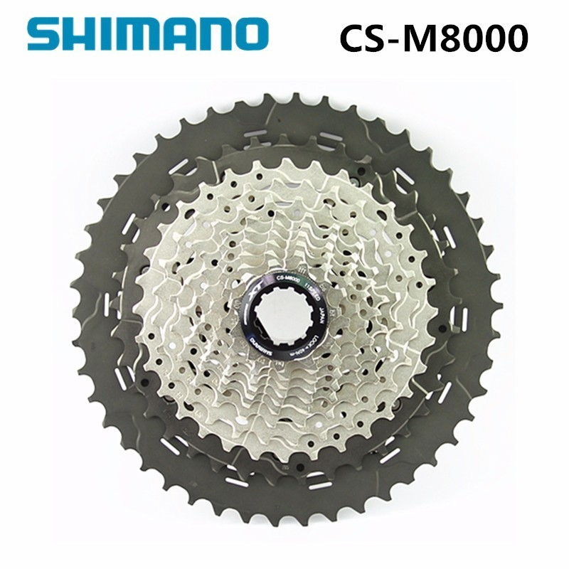 SHIMANO DEORE CS-M8000 Bike Bicycle Freewheel Cassette MTB 11S 11 - 40T / 11 - 42T / 11 - 46T цена