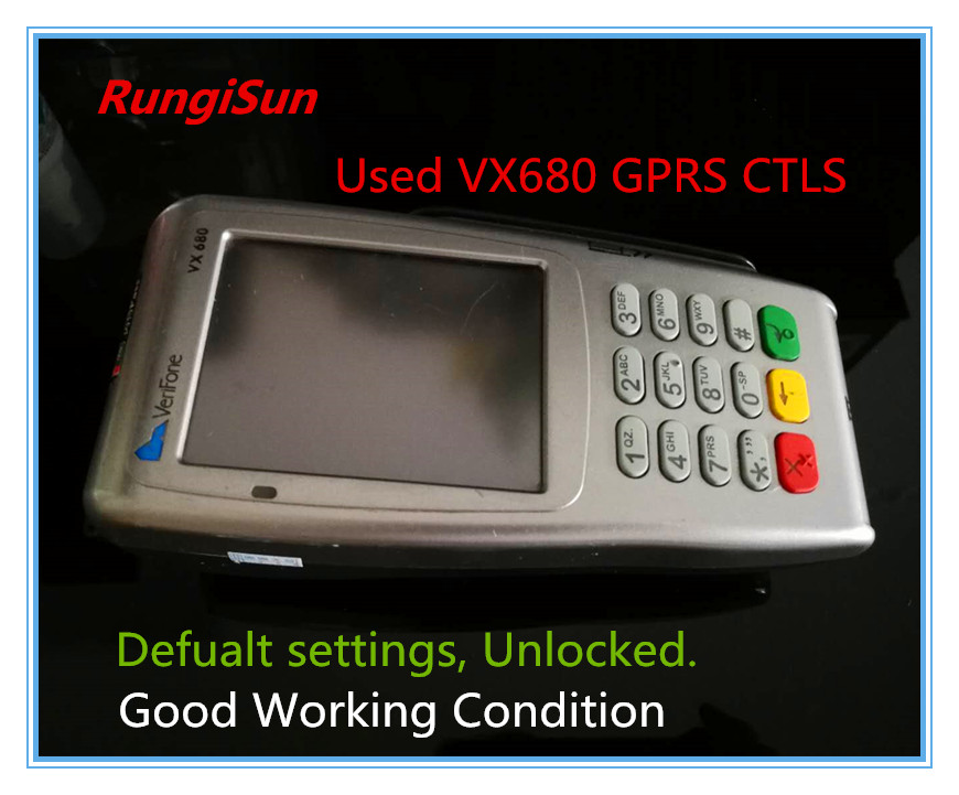 Used/Refurbished Verifone Vx680 GPRS CTLS POS Terminals brand new verifone vx670 vx680 hdmi power adaptor 50pcs cable