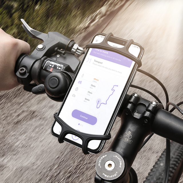purchase cheap 70638 8cb2c US $3.99 20% OFF|Universal Phone Stand Holder Bicycle For iPhone X 7 6S 8  Cell Bracket Bike Mount Stand Support Motorcycle Phone Holder Silicone-in  ...