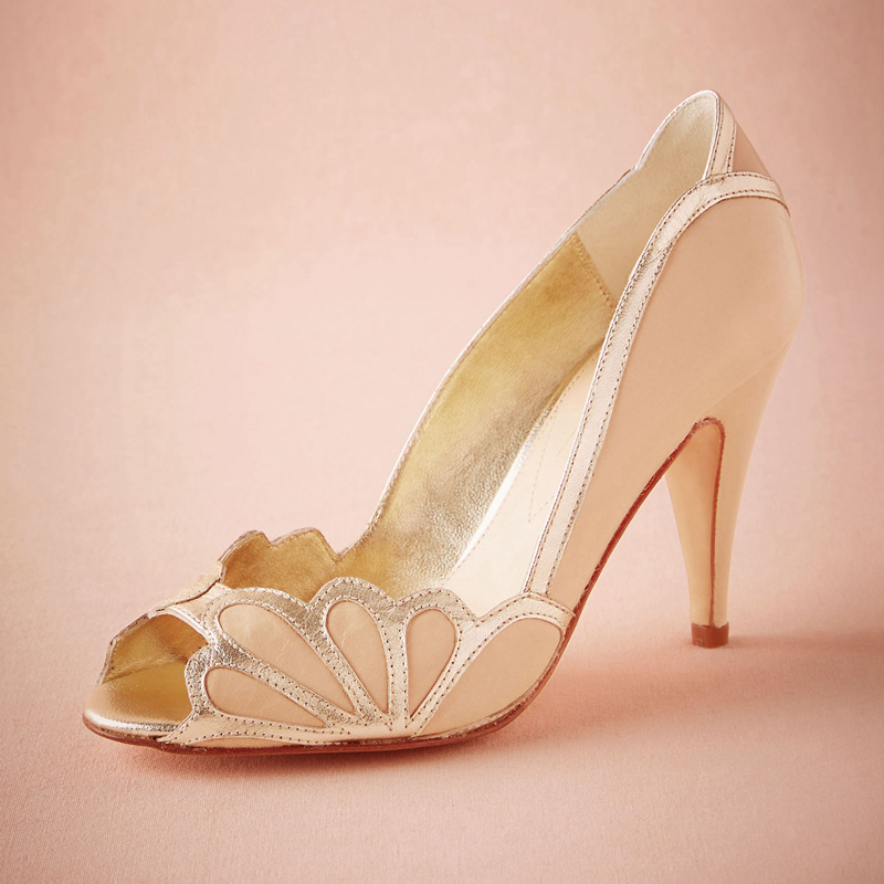 Online buy wholesale blush satin shoes from china blush for Heels for wedding dress