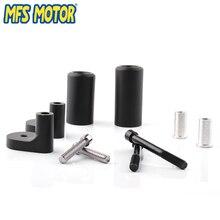 Freeshipping motorcycle parts No Cut Frame Slider For Kawasaki 1999-2000 ZRX 1100 2001-2005 1200R Black