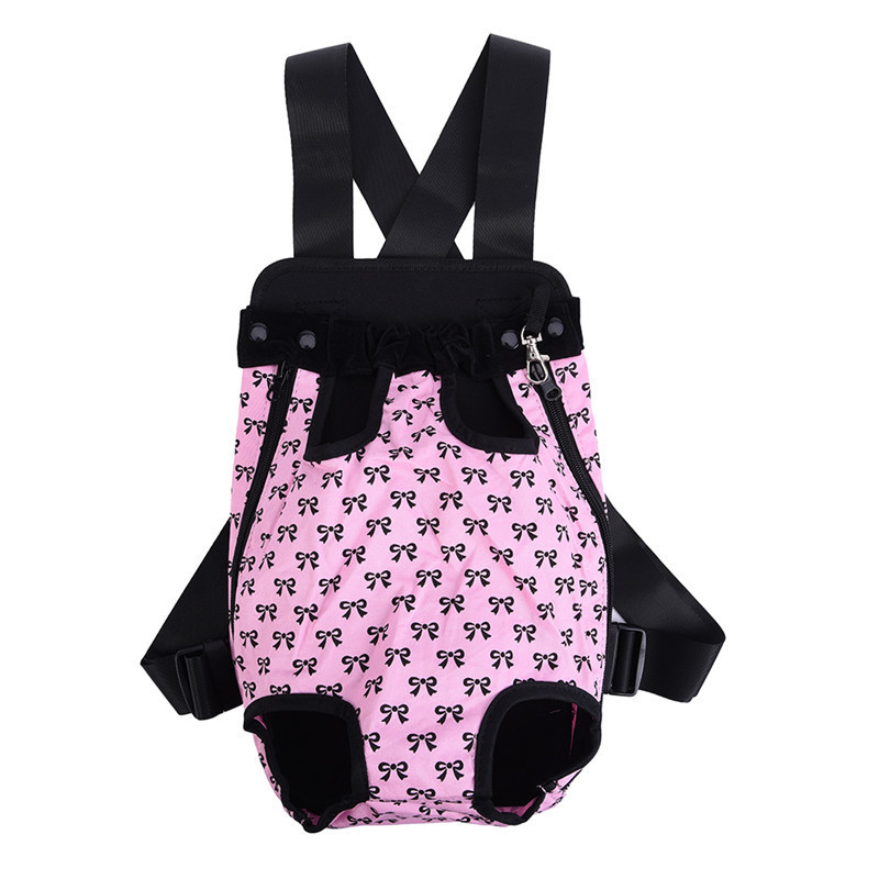 Cute Small Dog Backpack Carrier with Bowknot Pattern 17