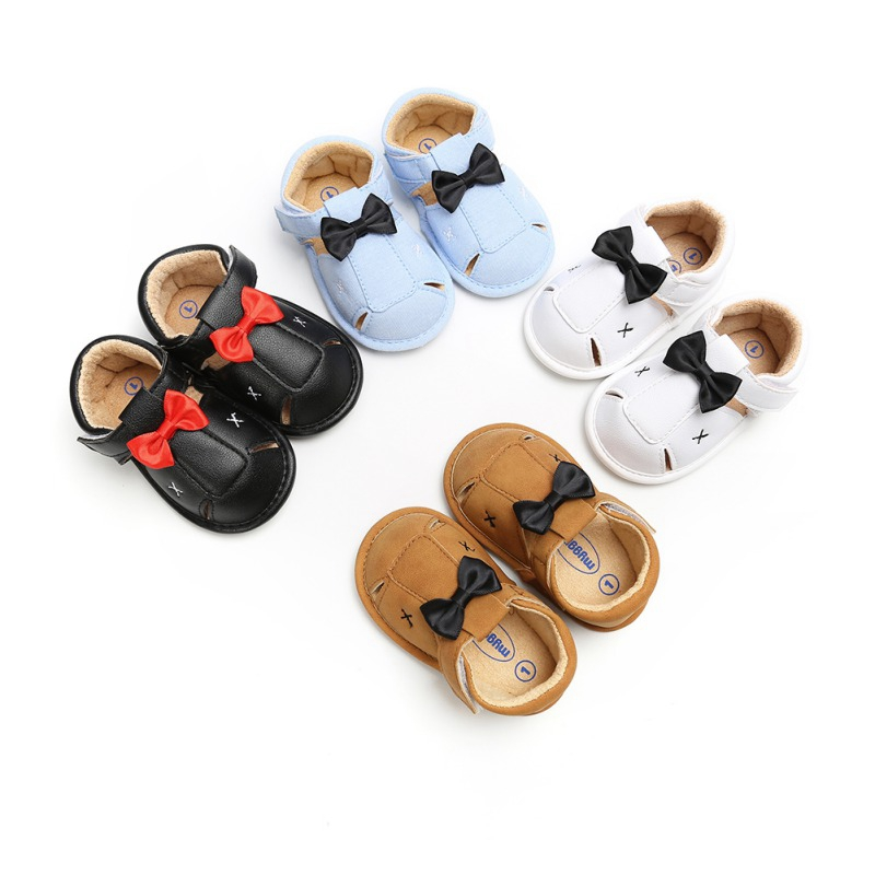 Baby Shoes Summer Toddler Girl Cute PU Soft Sole Anti-slip Bow Crib Shoes First Walkers Walking Shoes For Children New