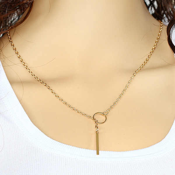 Samyeung Bulgaria Jewelry Gold Link Chain Statement Chocker Necklaces for Girl Friendship Necklace Neclace Women Neckless Femme