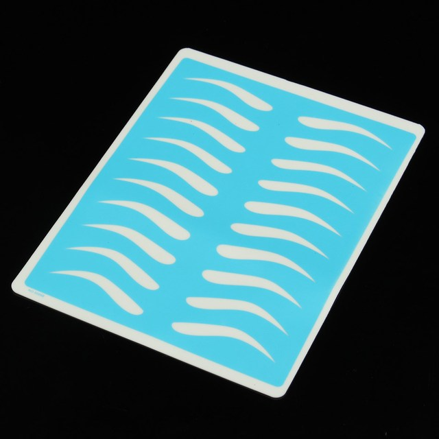 1pcs Silicone Permanent Makeup Eyebrow Tattoo Practice Skin Bule 19.5X14.5cm Fake Practice Skin For Microblading Tattoo Machine