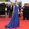 Sexy Azul Real Vestido Formal Barbara Meier Festival de Cine de Cannes Alfombra Roja de La Celebridad Vestidos 2017 Vestido De Festa