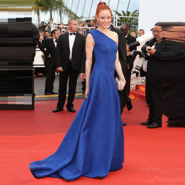 Sexy Royal Blue Formal Dress Barbara Meier Cannes Film Festival Red Carpet Celebrity Dresses 2017 Vestido De Festa