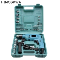 Himoskwa alta qualidade 28 pçs 850w multifunções furadeira de impacto ferramentas elétricas broca mão