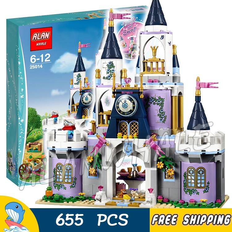 655pcs Princess Friends Cinderella's Dream Castle Prince 25014 Model Building Blocks Children Toys Bricks Compatible With lego цена