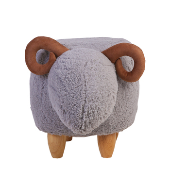 Nordic shoes bench creative furniture door shoes low stools solid wood storage lamb animal children's room sofa stool