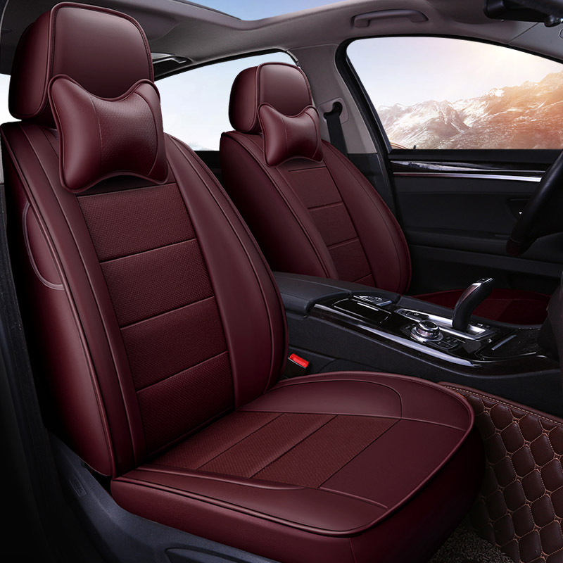 Yuzhe Auto Leder autositzbezüge Für Toyota RAV4 Land Cruise PRADO 150 COROLLA Prius Reiz CROWN autos autozubehör