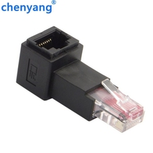 Up Angled 90 Bằng 8P8C FTP STP UTP Cat 5e Nam cho Nữ Lan Ethernet Network Extension Adapter