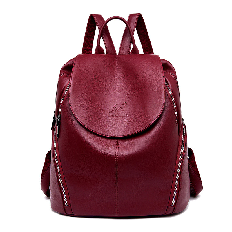 2019 Fashion Soft Leather Women Backpack Female School Bag for Teenage Girls Ladies Elegant Backpack Bag Women Bag Pack2019 Fashion Soft Leather Women Backpack Female School Bag for Teenage Girls Ladies Elegant Backpack Bag Women Bag Pack