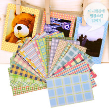 20 Pcs/Lot DIY Scrapbook Decorative Paper Photos Frame For Instax Mini Film Home Decor Candy Color Photo Albums Stickers(China)