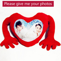 Provide photo Arms to embrace love doll cushion Real human DIY Toy Christmas decorations diy gift Birthday Valentine's Day