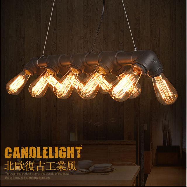 INDUSTRIELLE STEAMPUNK LAMPE TUYAU DE FER PLAFONNIER PENDENTIF