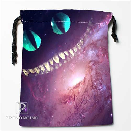 Custom Galaxy Cat Drawstring Bags Printing Fashion Travel Storage Mini Pouch  Swim Hiking Toy Bag Size 18x22cm #171208 03-in Drawstring Bags from Luggage  ...