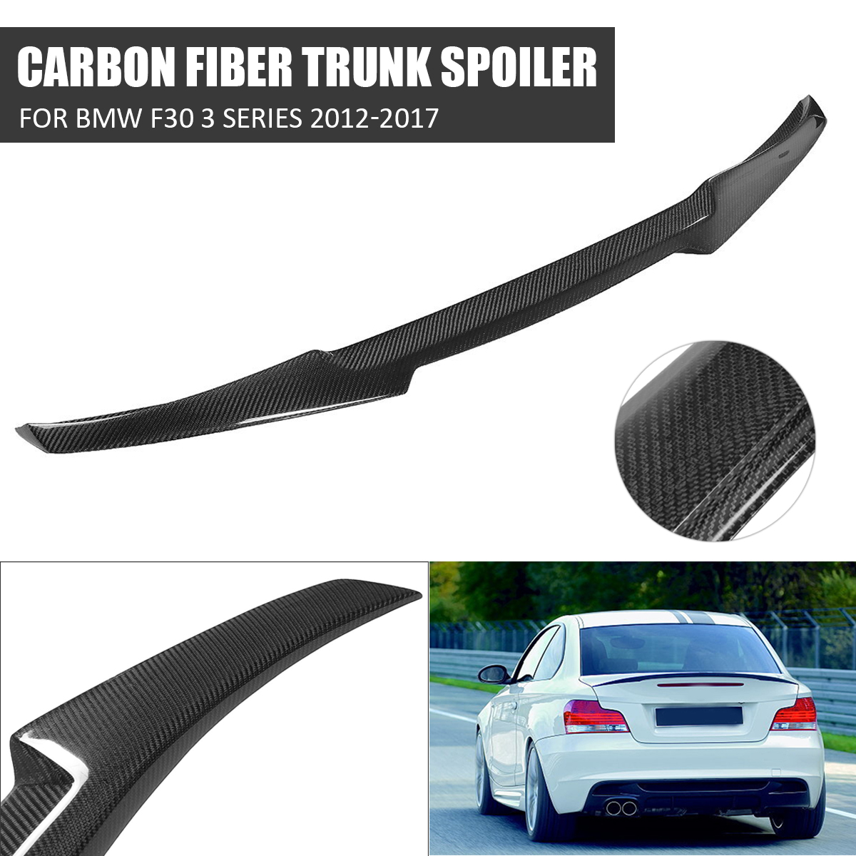 High quality Carbon Fiber M4 LStyle Trunk Rear Wing Spoiler For 2012-17 For BMW F30 3 Series 335i 328i 2012 - 2017 m performance style carbon fiber rear trunk wing spoiler for bmw 3 series f30 2012 2018 318i 320i 328i 330i 335i