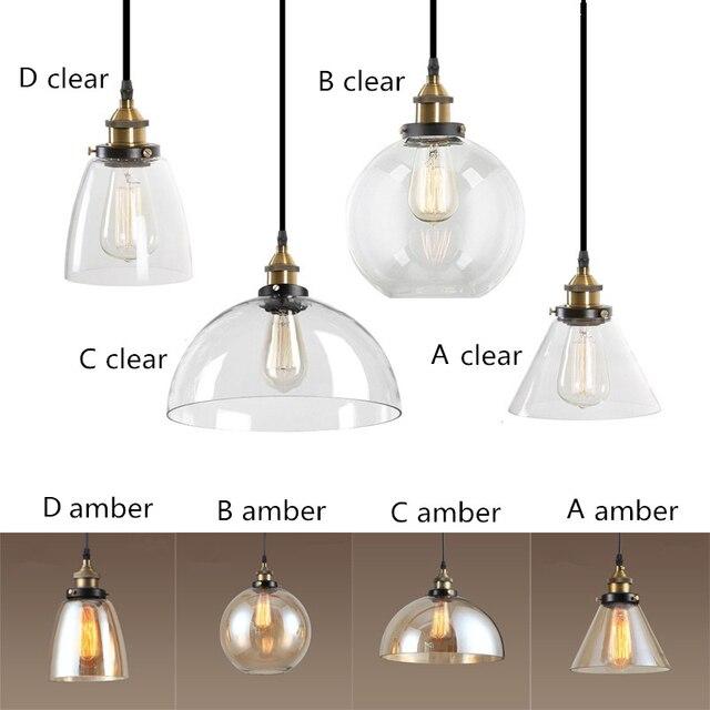 Ambra/Clear Glass Lampade a Sospensione Industriale Apparecchi di ...