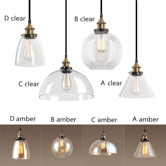 Ámbar/Borrar vidrio Sombras Lámparas colgantes Iluminación ...
