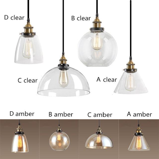 Tienda Online Ámbar/Borrar vidrio Sombras Lámparas colgantes ...