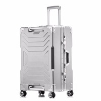 LeTrend Fashion Spinner Rolling Luggage Solid Aluminum Frame Travel bag Trolley Student Carry On Wheels Suitcase Women Trunk
