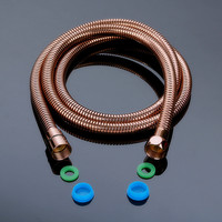 Rose gold Stainless Steel 1/2 Inch Bath Shower Flexible Hose Pipe Fitting Bathroom Product 1.5m=59 Length