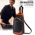Pu Chest Sling Bag British Style Shoulder Bag Zipper Hasp Men Casual Messager Cross Body Bags Fashion Luxury Package