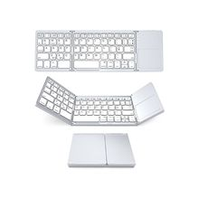 Foldable Wireless Bluetooth Keyboard Touchpad Keypad USB Recharge Keyboard for Windows IOS