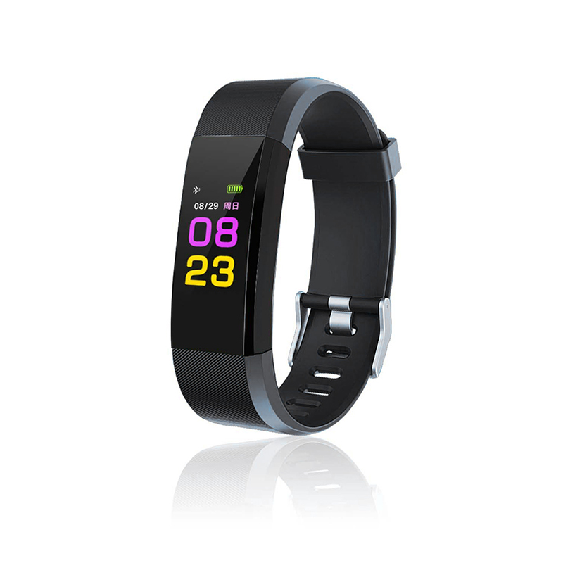 Leegoal Color LCD Screen ID115 Plus HR Smart Bracelet Fitness Tracker Heart Rate Blood Pressure Monitor Wristband Bluetooth