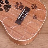 Cordas para cordas para ukulele ukulele claro e cristal transparente cordas 1 conjunto de 4 peças Cordas 17 polegadas 21 polegadas 23 polegadas