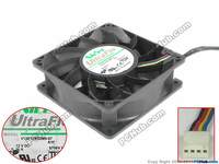 Nidec V12E12BS2M9-07 A16 Server Square Cooling Fan DC 12V 0.36A 120x120x38mm 4-wire