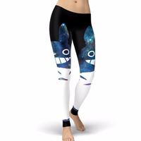 2017 New Arrival My Neighbor Totoro Moonlight Women Leggings Cartoon Kawaii Leggins Printed Legging For Woman