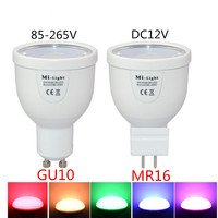 Mi Light GU10 MR16 LED Bulb 2 4G Wireless Colorful Smart LED Lights AC 85 265V